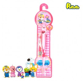 Pororo Tooth Brush For Children Kids (3 Year Over) Cartoon Character Loppy