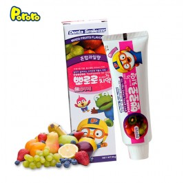 Pororo Dental Smile Kids Toothpaste 90g For Children (3 Year Over) Mixed Fruits Flavor