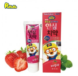 Pororo Ansim Children Toothpaste 80g For Kids (3 Year Over) Strawberry Flavor