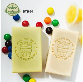 Soap Bee Always Be The Best 马芬兔 Handmade Arcylic Embossing Soap Stamp Stamping Soap Mold mould Craft 4cm